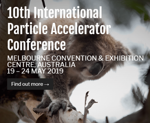 Meet us at IPAC'19, Melbourne